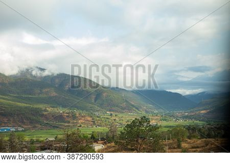 Beautiful Rural Countryside In Yunnan Province, China. High Quality Photo