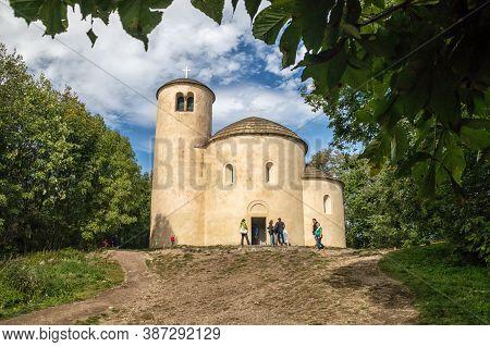 Rip, Czech Republic - 10 10 2019: The Rotunda Of Saint George On Top Of The Hill Rip, Travel Destina