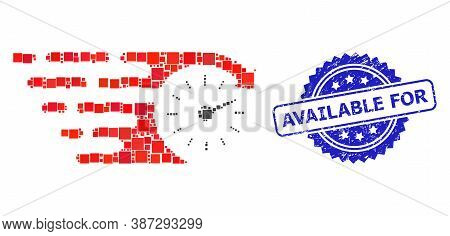 Vector Collage Time, And Available For Scratched Rosette Stamp Seal. Blue Stamp Seal Includes Availa