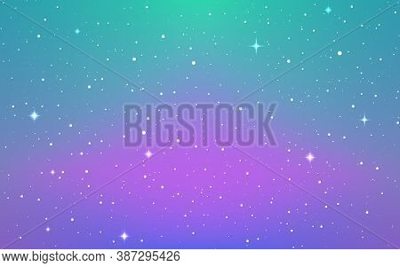 Space Background. Soft Purple Cosmos With Shining Stars. Colorful Starry Galaxy. Bright Infinite Uni