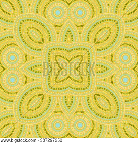 Abstract Moroccan Zellige Tile Seamless Rapport. Ethnic Geometric Vector Motif. Rug Print Design. Tr