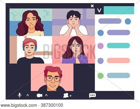 Isolated University Call Smartphone Videocall Icon- Vector