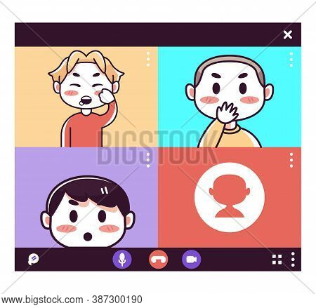 Isolated School Videocall Smartphone Communication Icon- Vector