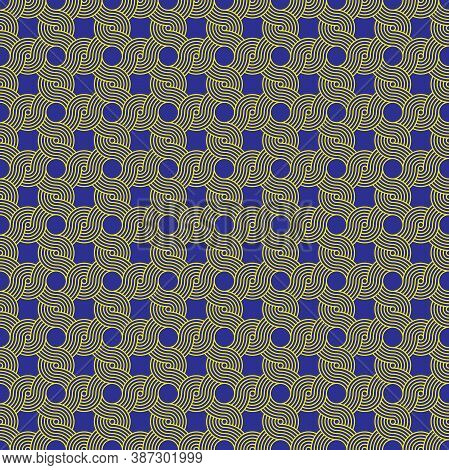 Seamless Vintage Weave Cord Knot Pattern Background