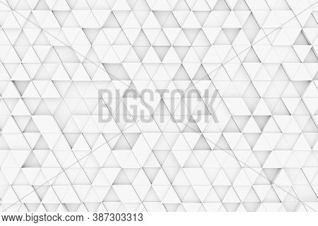 Random Shifted White Triangle Geometrical Pattern Background With Soft Shadows, Minimal Background T