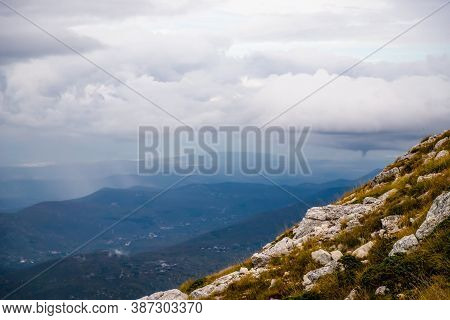 View From The Mountain Biokovo. Mountain Landscape, Croatia