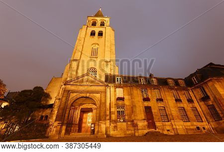 Church Of Abbey Of Saint Germain-des-pres, The Oldest Church In Paris -10th-12th Centuries. France.
