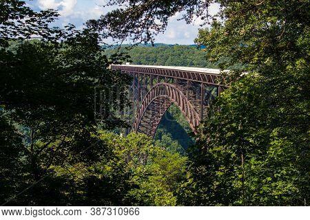 New River Gorge Bridge. The New River Gorge Bridge Scenic Overlook At The New River Gorge National P