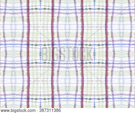 White And Blue Tartan Prints. Seamless Textured Design. Celtic Check Pattern. Vintage Simple Blanket