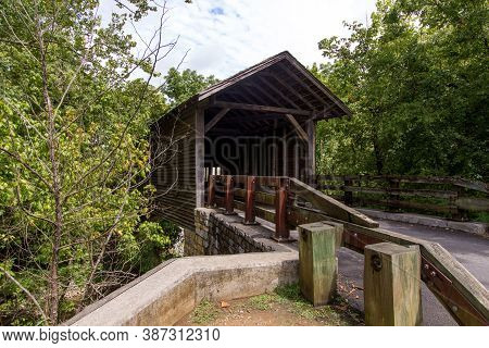 Harrisburg Covered Bridge In Sevier County Tennessee Is A Popular Scenic Landmark Near The Resort To