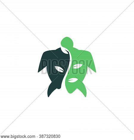 Green Plant Grow Turtle Tortoise Nature Wildlife Abstract Logo
