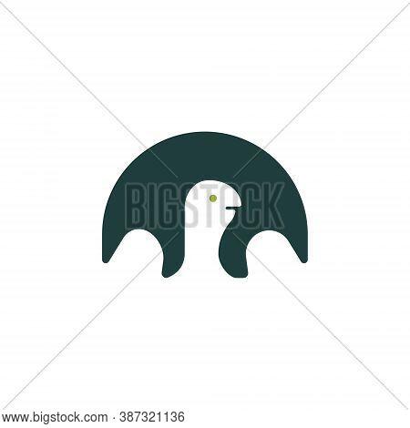 Turtle Tortoise Shell Aquatic Wildlife Abstract Negative Logo