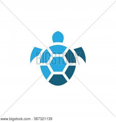 Turtle Tortoise Shell Aquatic Wildlife Abstract Simple Logo