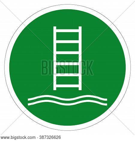 Embarkation Ladder Symbol Sign, Vector Illustration, Isolate On White Background Label .eps10