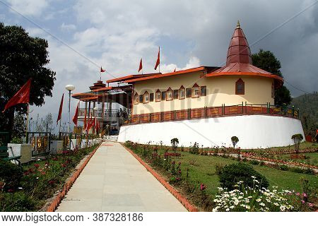 View Of Hanuman Tok Temple On Hillock At Gangtok In Sikkim, India, Asia