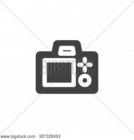 Photo Camera Screen Vector Icon. Filled Flat Sign For Mobile Concept And Web Design. Camera Viewfind