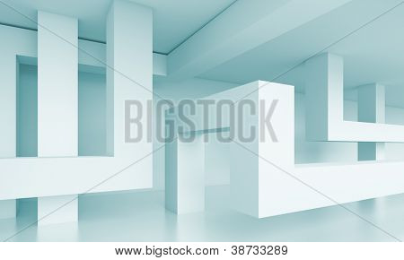 3d Abstract Architecture Background poster