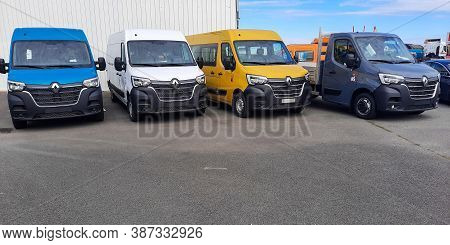 Bordeaux , Aquitaine / France - 09 25 2020 : Renault Master Van Industrial Commercial Vehicles Parke