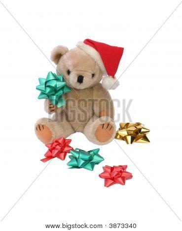 Christmas Teddy Bear With Bows