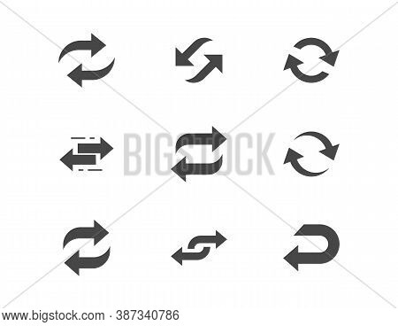 Reverse Flat Glyph Icons. Vector Illustration Included Icon As Swap, Flip, Currency Exchange, Switch