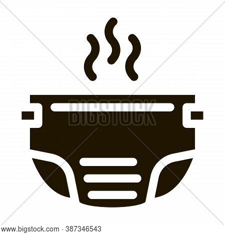 Smelly Diaper Glyph Icon Vector. Smelly Diaper Sign. Isolated Symbol Illustration