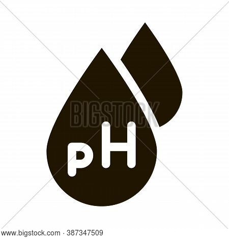Neutral Ph Drop Glyph Icon Vector. Neutral Ph Drop Sign. Isolated Symbol Illustration