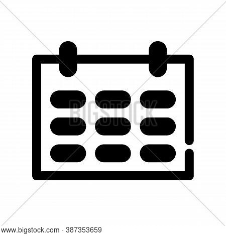 Calendar Outline Icon. The Item From Set Dedicated Marketing, As Well As Related Goods And Services.