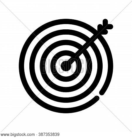 Target Outline Icon. The Item From Set Dedicated Marketing, As Well As Related Goods And Services. I