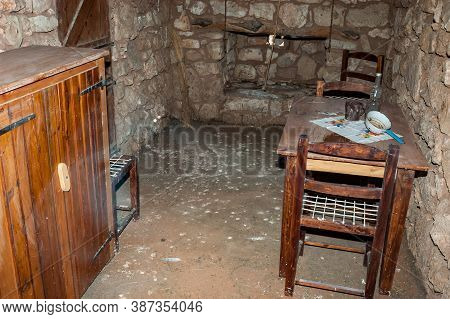 Kgalagadi Transfrontier Park, South Africa - June 05, 2012: Inside Of The Historic Settler Home At A