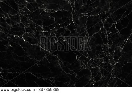 Abstract Black Marble Stone Texture For Background Or Luxurious Tiles Floor And Wallpaper Decorative