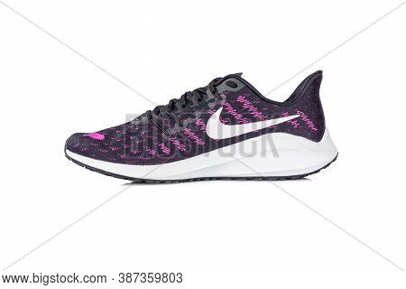 Roi Et, Thailand - September 28, 2020 : Nike Air Zoom Vomero 14 Shoes. Lightweight Running Shoes Wit