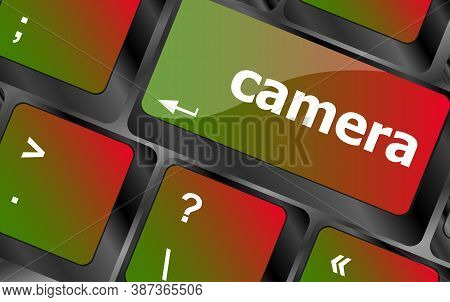 Camera Word On Keyboard Key, Notebook Computer Button