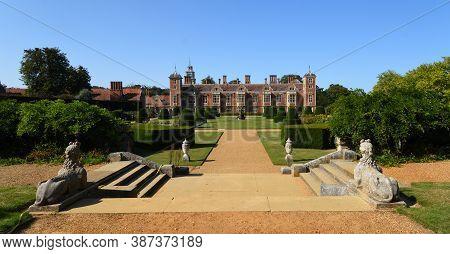 Aylsham, Norfolk, England - September  21, 2020:  The Gardens Of Blickling Hall Norfolk On A Sunny D