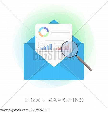 E-mail Marketing Modern Vector Icon. Inbound Or Outbound Advertisement Business Strategy. An Open Ma
