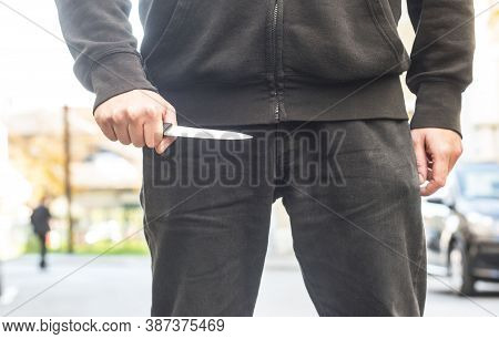 An Attacker With A Knife
