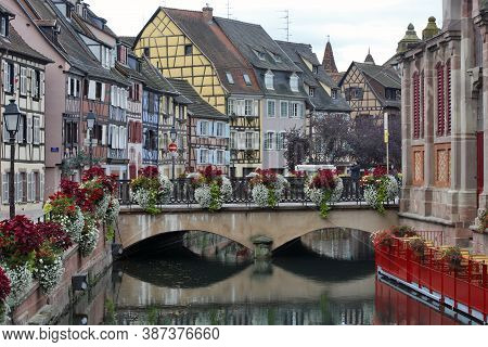 Colmar, France - October 08:  Is Called - Le Petite Venise - A Lots Of Water Channels And Lots Of Fl