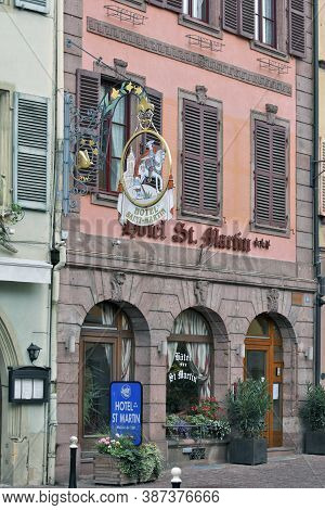 Colmar, France - October 08: The 3-star Hotel St.martin With 40 Rooms Is Located In The Historic Cen