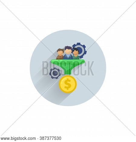 Lead Generation Colorful Flat Icon With Long Shadow. Lead Generation Flat Icon