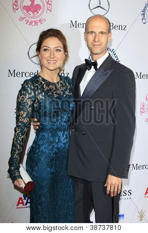 BEVERLY HILLS - OCT 20:  Sasha Alexander, Edoardo Ponti at the 26th Carousel Of Hope Ball at The Beverly Hilton Hotel on October 20, 2012 in Beverly Hills, California