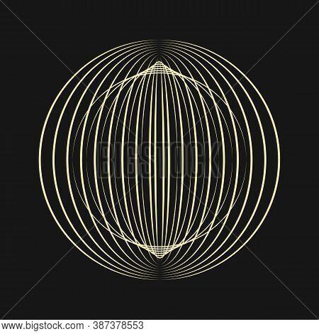 Sacred Geometry. Sacral Sign Of Illuminates. Secret Symbol Of Geometry. Linear Image Of The Planet.