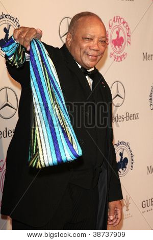 BEVERLY HILLS - OCT 20:  Quincy Jones at the 26th Carousel Of Hope Ball at The Beverly Hilton Hotel on October 20, 2012 in Beverly Hills, California