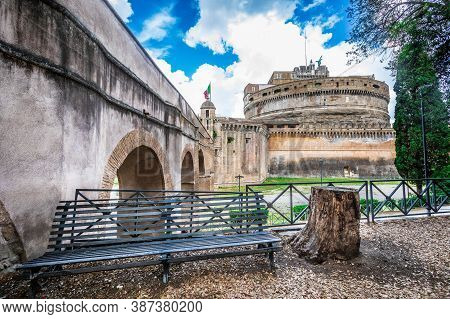 The Mausoleum Of Hadrian, Usually Known As Castel Sant Angelo (english: Castle Of The Holy Angel). T