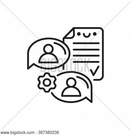 Supplier Agreement Line Black Icon. Event Management. Sign For Web Page, Mobile App, Button, Logo. V