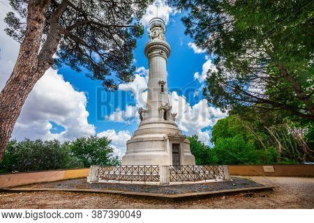 The Janiculum Lighthouse Is Also Called The Lighthouse Of Rome Or The Lighthouse Of The Italians Of