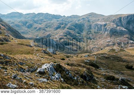 Amazing View On Durmitor Mountains, National Park, Montenegro, Balkans, Europe.
