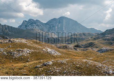Mountain Landscape In The National Park Durmitor. Montenegro, Balkans, Europe