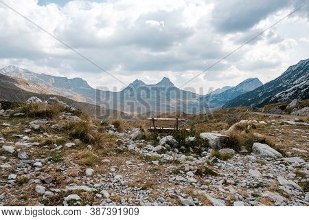 Beautiful Mountain Landscape In The National Park Durmitor, Montenegro.