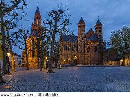 Cathedral in Maastricht - Netherlands - architecture background