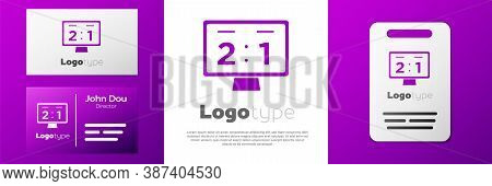 Logotype Sport Mechanical Scoreboard And Result Display Icon Isolated On White Background. Logo Desi