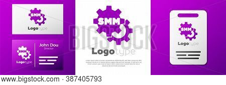 Logotype Smm Icon Isolated On White Background. Social Media Marketing, Analysis, Advertising Strate